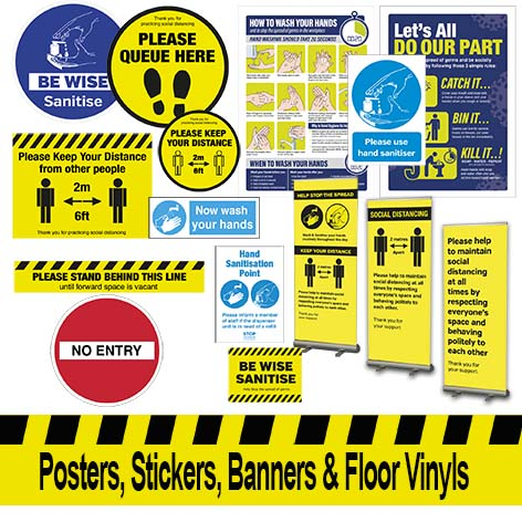 Stickers, Notices & Posters