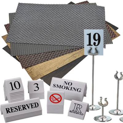 Table Mats, Numbers & Signs
