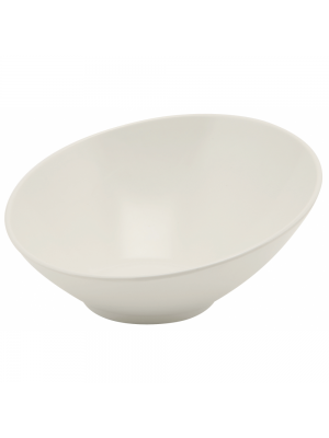 Melamine White Slanted Buffet Bowl - 21cm