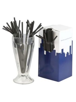 Black Bendy Straws