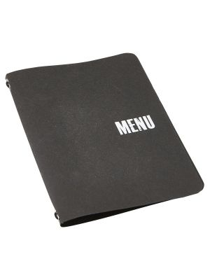 Washable Paper A4 Menu Holder Brown