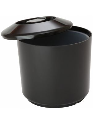 Round Black Ice Bucket