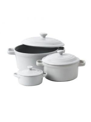 Mininova White Casserole Dish With Lid-6cl