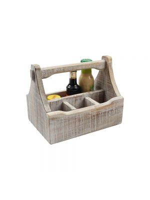 Nordic White 4 Compartment Table Caddy