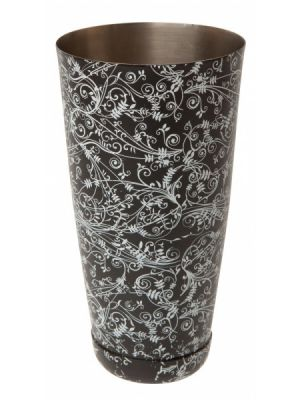 Mezclar Patterned 28oz Boston Can Black