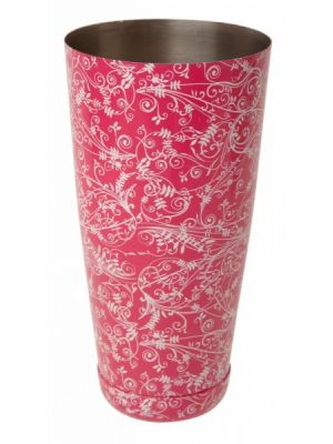 Mezclar Patterned 28oz Boston Can Pink