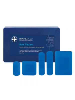 Blue Detectable Plasters 75mm x 25mm Pk 100