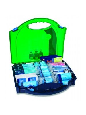Medium BS Catering First Aid Kit open showing contents