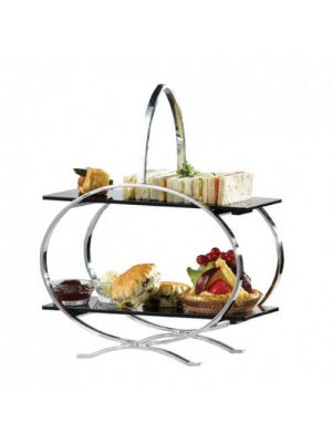 Stainless Steel Cake Stand & 3 Acrylic Inserts
