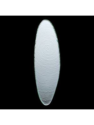 Scape Clear Glass Oval Platter 40cm