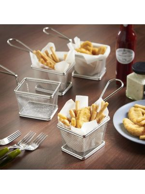 Stainless Steel Square Serving Basket