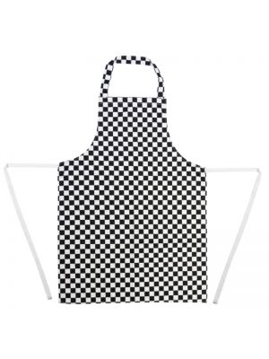 Black Check Bib Apron