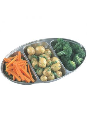 Stainless Steel 3 Division Banqueting Dish