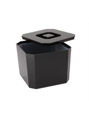 Square Black Ice Bucket