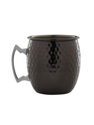 Gun Metal Barrel Mug Hammered 19.25oz