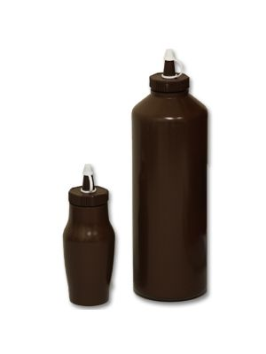 Brown Plastic Sauce Bottle- Small