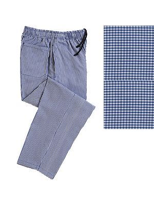 Woven Blue Check Standard Chef Trousers