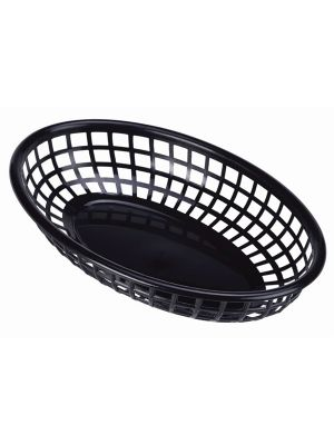 Black Fast Food Basket 23.5x15.4cm
