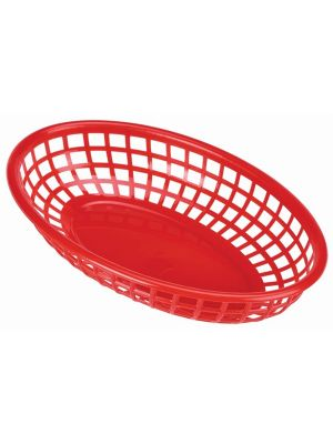 Red Fast Food Basket 23.5x15.4cm