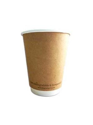 12oz Double Wall Eco Hot Cup - NATURAL (500)