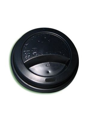 10-16oz Black Hot Cup Lid (1000)