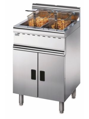 Lincat Silverlink 600 Free Standing Twin Tank Gas Fryer J10