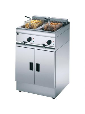 Lincat Silverlink 600 Free Standing Twin Tank Electric Fryer J12