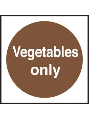 Vegetables Only Fridge/Freezer Sign
