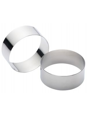 Deep Cooking Rings Stainless Steel 7cm