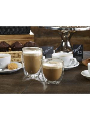 Double Walled Coffee Glass 8.75oz