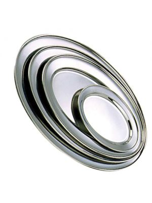 Stainless Steel Oval Meat Flat 45cm