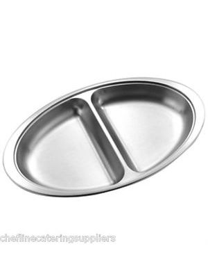 Stainless Steel 2 Division Banqueting Dish