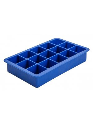15 Cavity Silicone Ice Cube Mould 1.25″ Square (Blue)