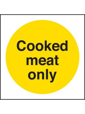 Cooked Meat Fridge/Freezer Sign
