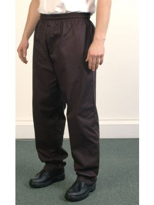Black Elasticated Chefs Trouser