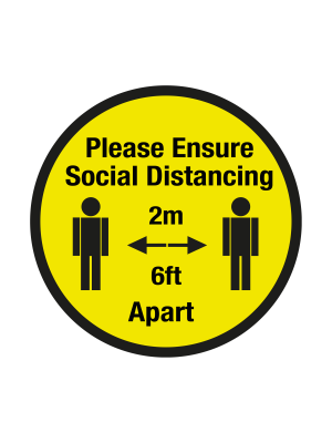 Please keep your 2 metre social distancing floor graphic 600mm