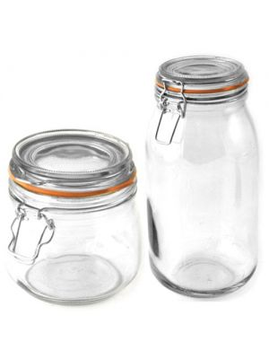 Glass Preserve Jars 1 Litre