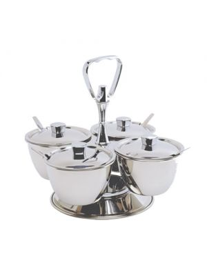 Stainless Steel 4 Cup Relish Server