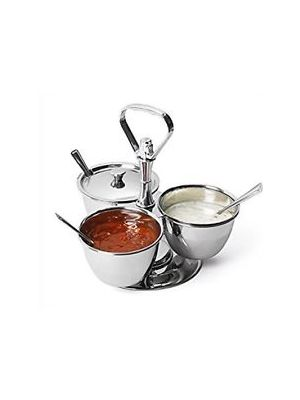 Stainless Steel 3 Cup Relish Server