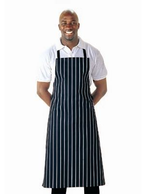 Navy Butchers Bib Apron with Adjustable Halter