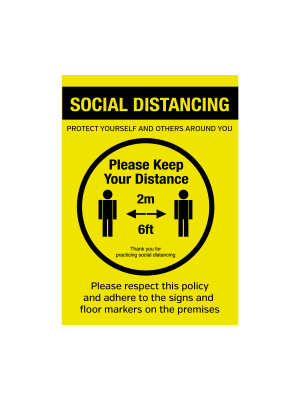 Keep 2metre (6ft) apart when entering social distance Vinyl Sticker