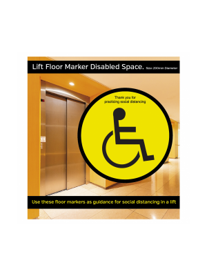 A3- Maximum 4 people allowed in the Lift at one time social distancing lift guidance Sign