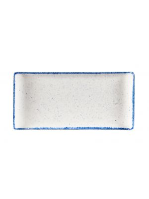 Stonecast Hints Indigo Blue Rectangular Buffet Tray 30cm