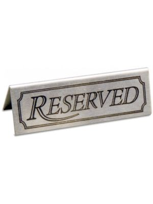 Metal Reserved Table Sign