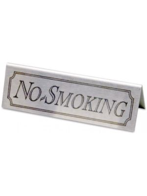 Metal No Smoking Table Sign