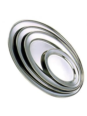 Stainless Steel Oval Meat Flat 40cm (16