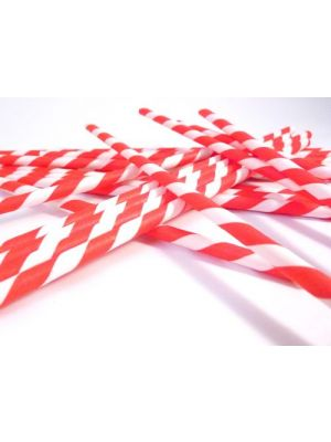 Paper Straws - Red & White