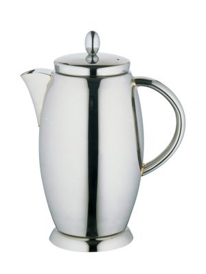 Designer Tea/Coffee Pot Stainless Steel 1.2L