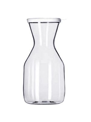 32 OZ THREE SPOUT WATER PITCHER, POLYCARBONATE, CLEAR
