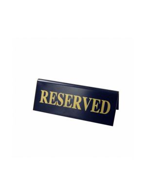 Plastic Black/Gold Reserved Table Signs
